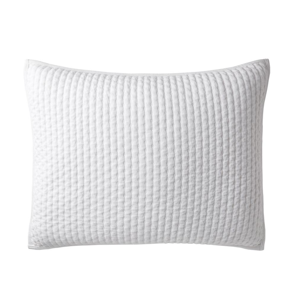 Legends Paloma Cotton Textured King Sham in White