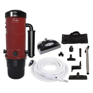Prolux CV12000 Red Central Vacuum Power Unit with Electric Hose and Black Power Noz.zle Kit by Prolux