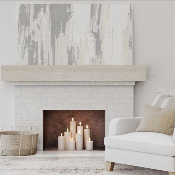 Ekena Millwork 8 In X 12 In X 3 Ft Rough Sawn Faux Wood Beam Fireplace Mantel White Washed Manurs08x12x36wh The Home Depot
