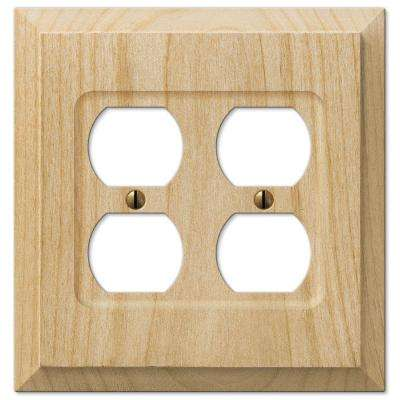 2 Duplex Wall Plate - Un-Finished Wood