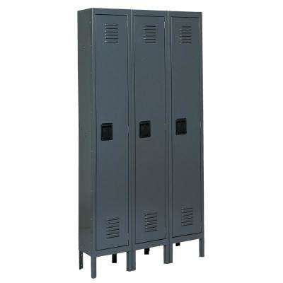 Citadel 12 in. W x 18 in. D x 72 in. H Steel Single Tier Lockers in Gray