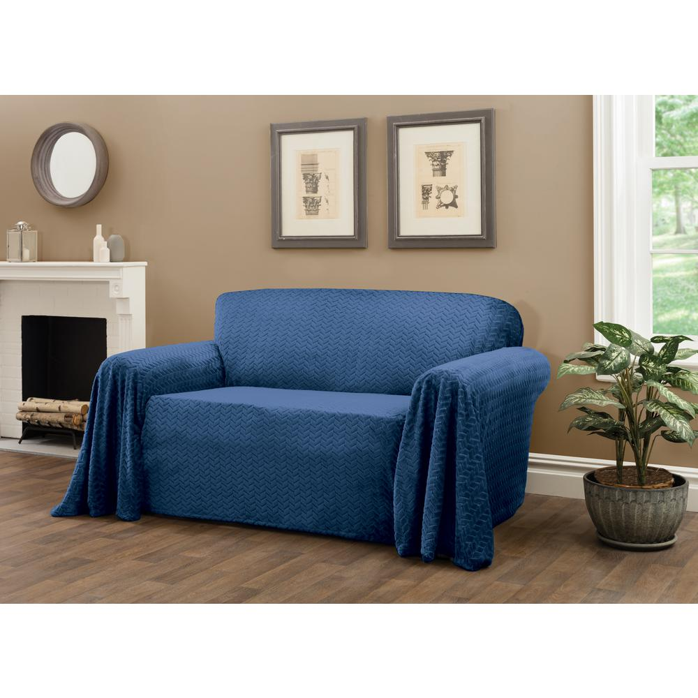 Magnificent Innovative Textile Solutions Mason Blue Furniture Throw Loveseat Slipcover Caraccident5 Cool Chair Designs And Ideas Caraccident5Info