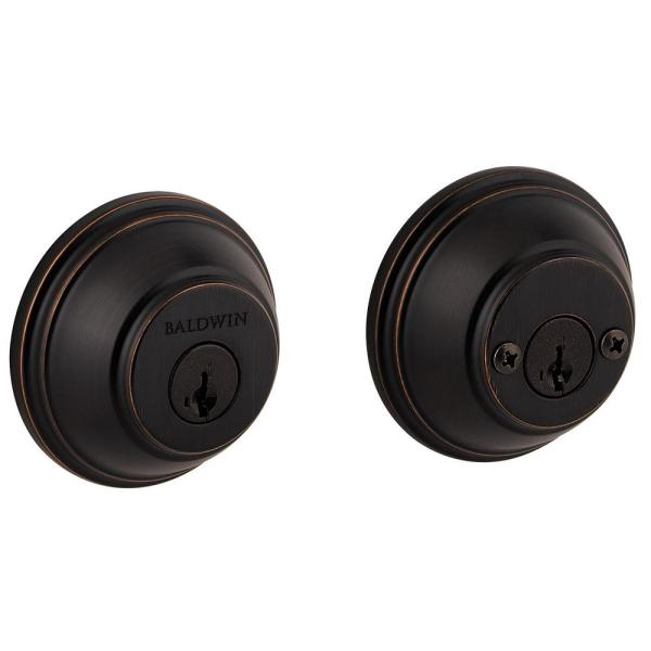 Prestige Venetian Bronze Double Cylinder Round Deadbolt with Microban Antimicrobial Technology