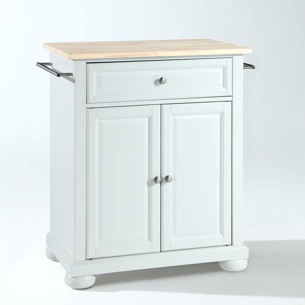 Crosley Furniture Alexandria White Kitchen Island With Wood Top Kf30021awh The Home Depot