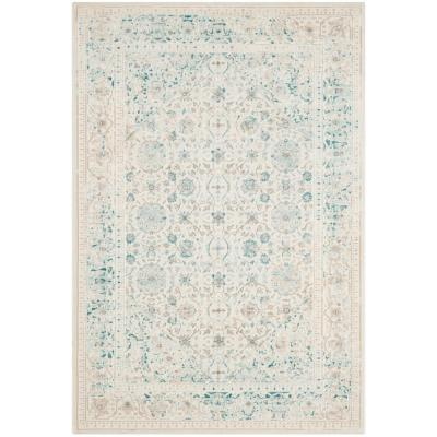 Passion Turquoise/Ivory 3 ft. x 5 ft. Area Rug