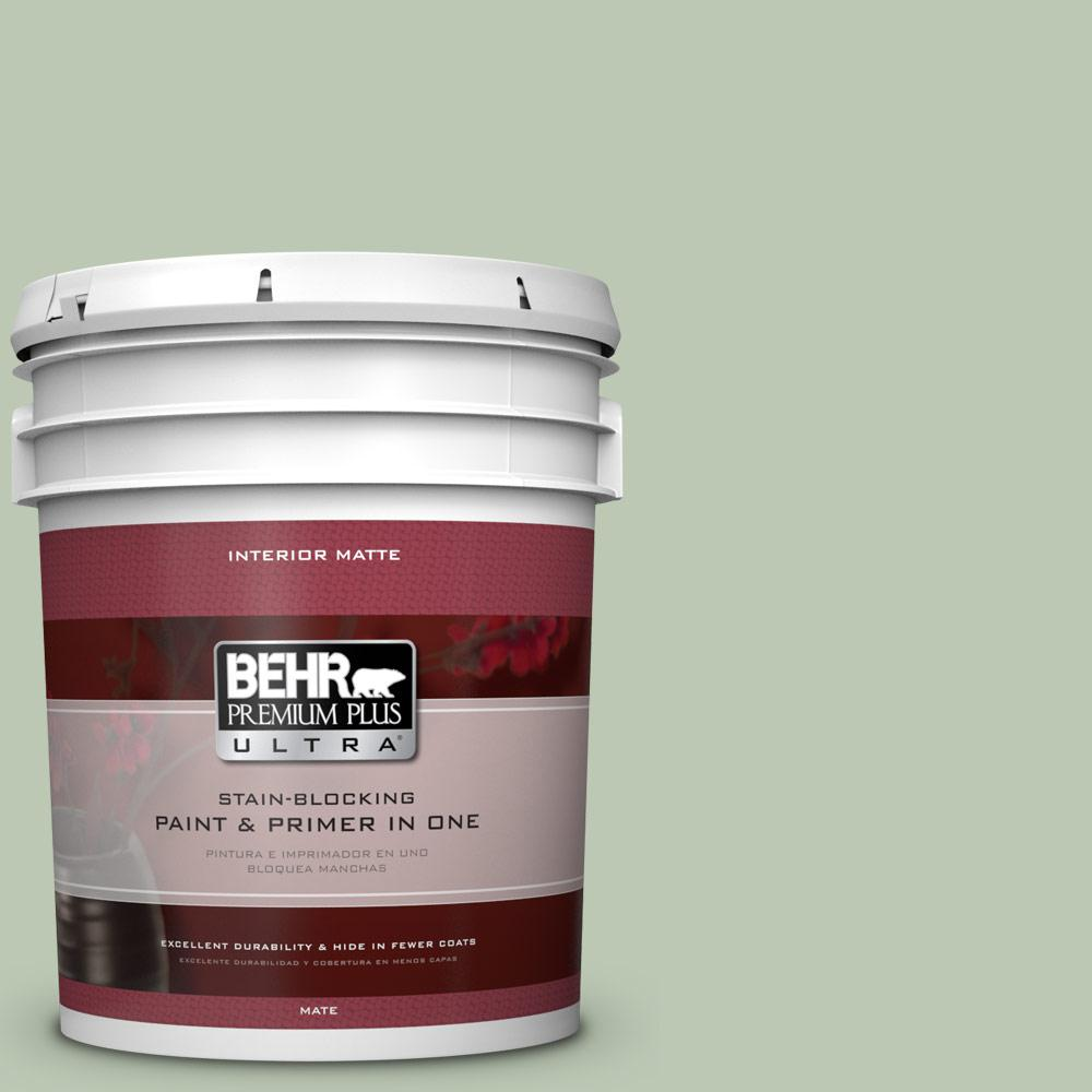 5 gal. #440E-3 Topiary Tint Matte Interior Paint and Primer in