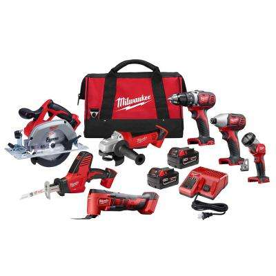 M18 18-Volt Lithium-Ion Cordless Combo Tool Kit (7-Tool) with Two 3.0 Ah Batteries, Charger and Tool Bag