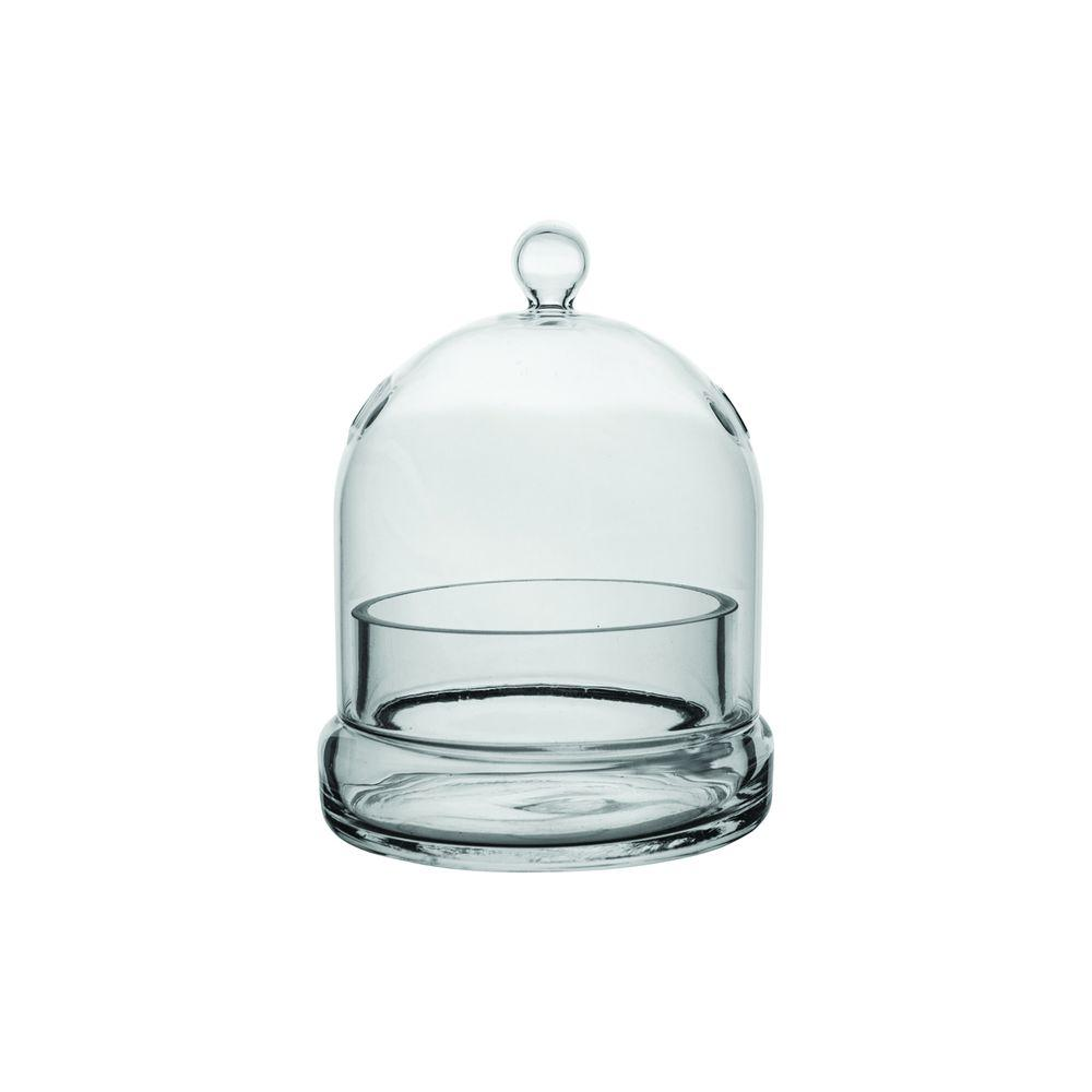Syndicate Home Garden 4-3/4 in. x 6 in. Cloche Terrarium Glass A striking variation on typical terrariums. The glass cloche gets its name from the French word for bell. Potted plants, succulents, natural curios, or even sweet treats find their perfect home in this classic glass vessel.