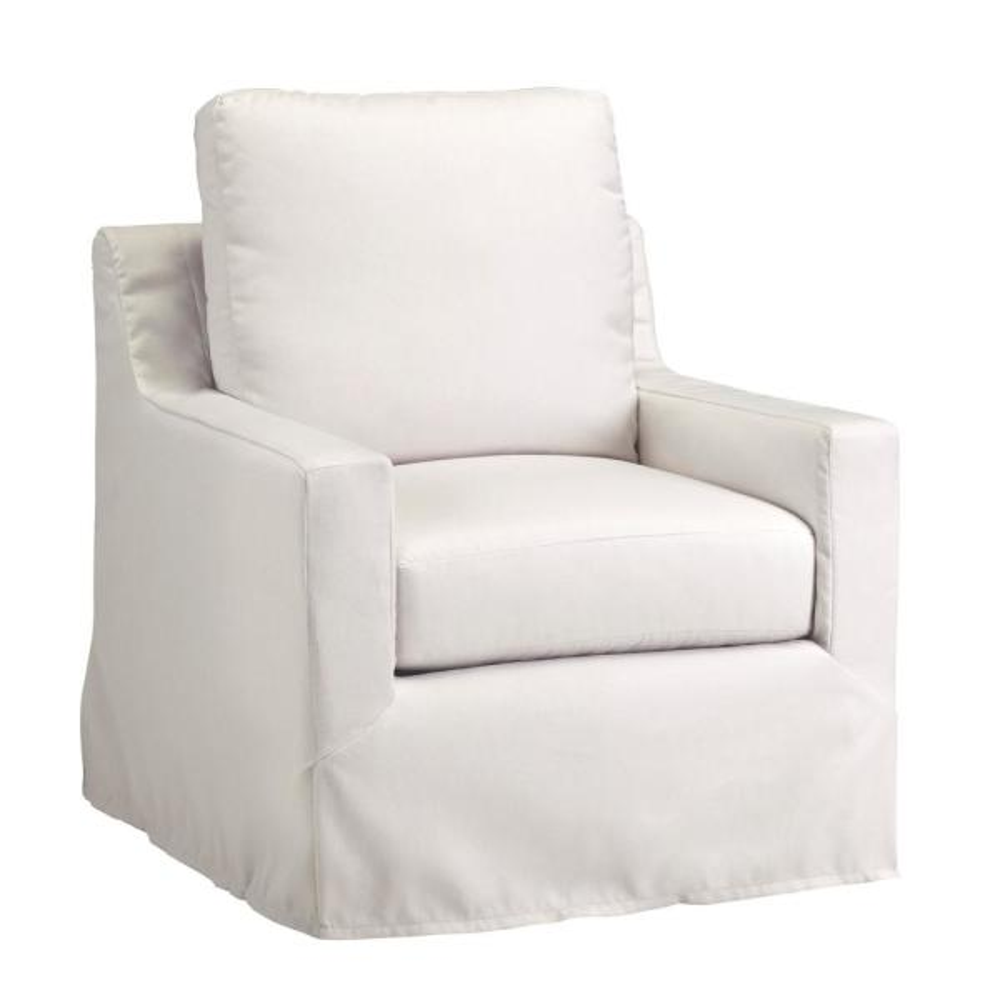 Sophie Ivory Upholstered-Slip Covered Chair