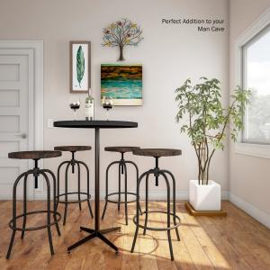 Astonishing Lavish Home 34 25 In Adjustable Modern Backless Metal Ocoug Best Dining Table And Chair Ideas Images Ocougorg