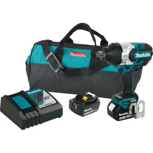 Makita 18-Volt LXT Lithium-Ion Cordless High Torque 3/4 inch sq. Drive Impact Wrench Kit with (2) Batteries 4.0Ah,... by Makita