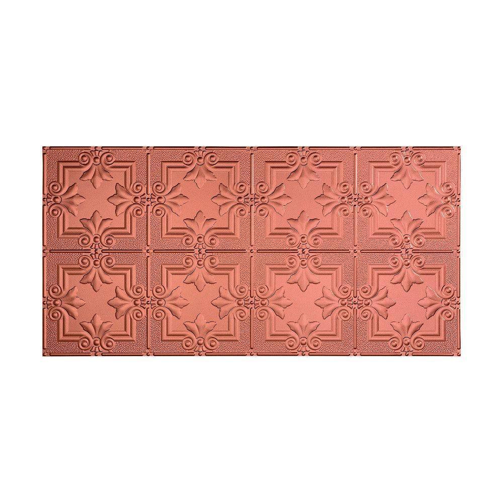 Regalia 2 ft. x 4 ft. Glue-up Ceiling Tile in Argent