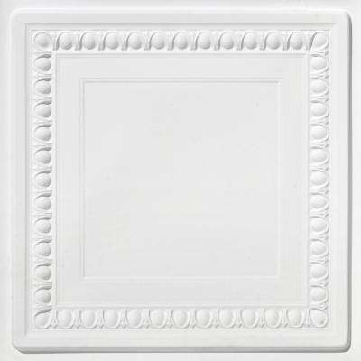 Cambridge 2 ft. x 2 ft. PVC Glue-up or Lay in Ceiling Tile in White Matte