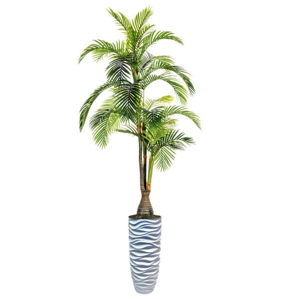 Laura Ashley 108 in. Tall Palm Tree, Artificial Indoor/ Outdoor Faux