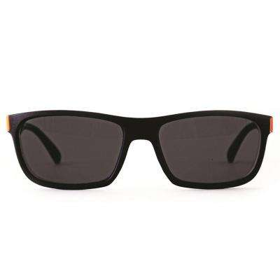 Sunglasses Square Black with Dark Blue and Orange Accent