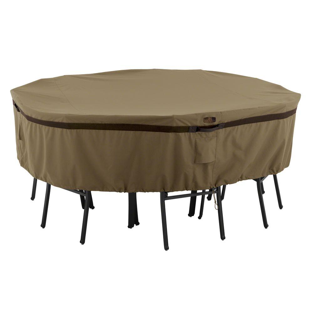 Hickory Large Round Patio Table And Chair Set Cover