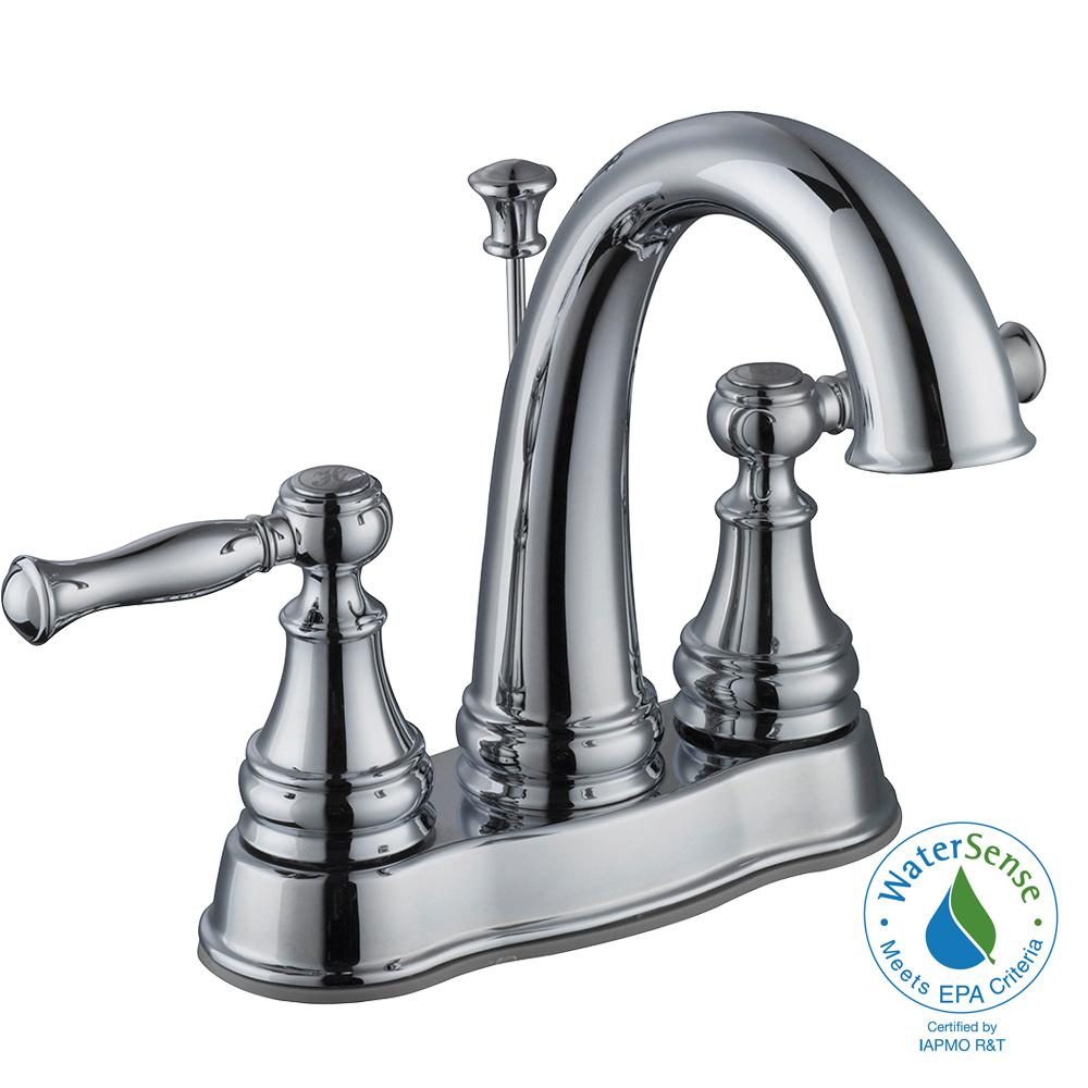 Fairway 4 in. Centerset 2-Handle High-Arc Bathroom Faucet in Chrome