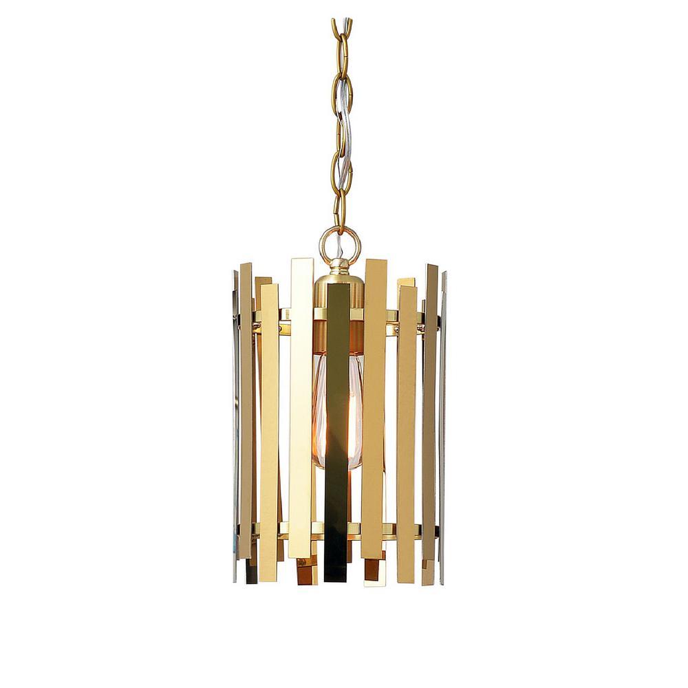 Picket 1-Light Gold Mini Pendant
