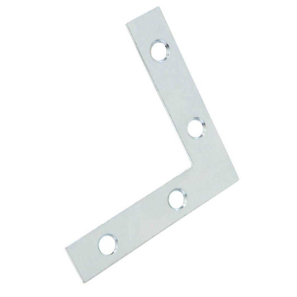 Everbilt 2 in. Zinc-Plated Flat Corner Brace (4-Pack)
