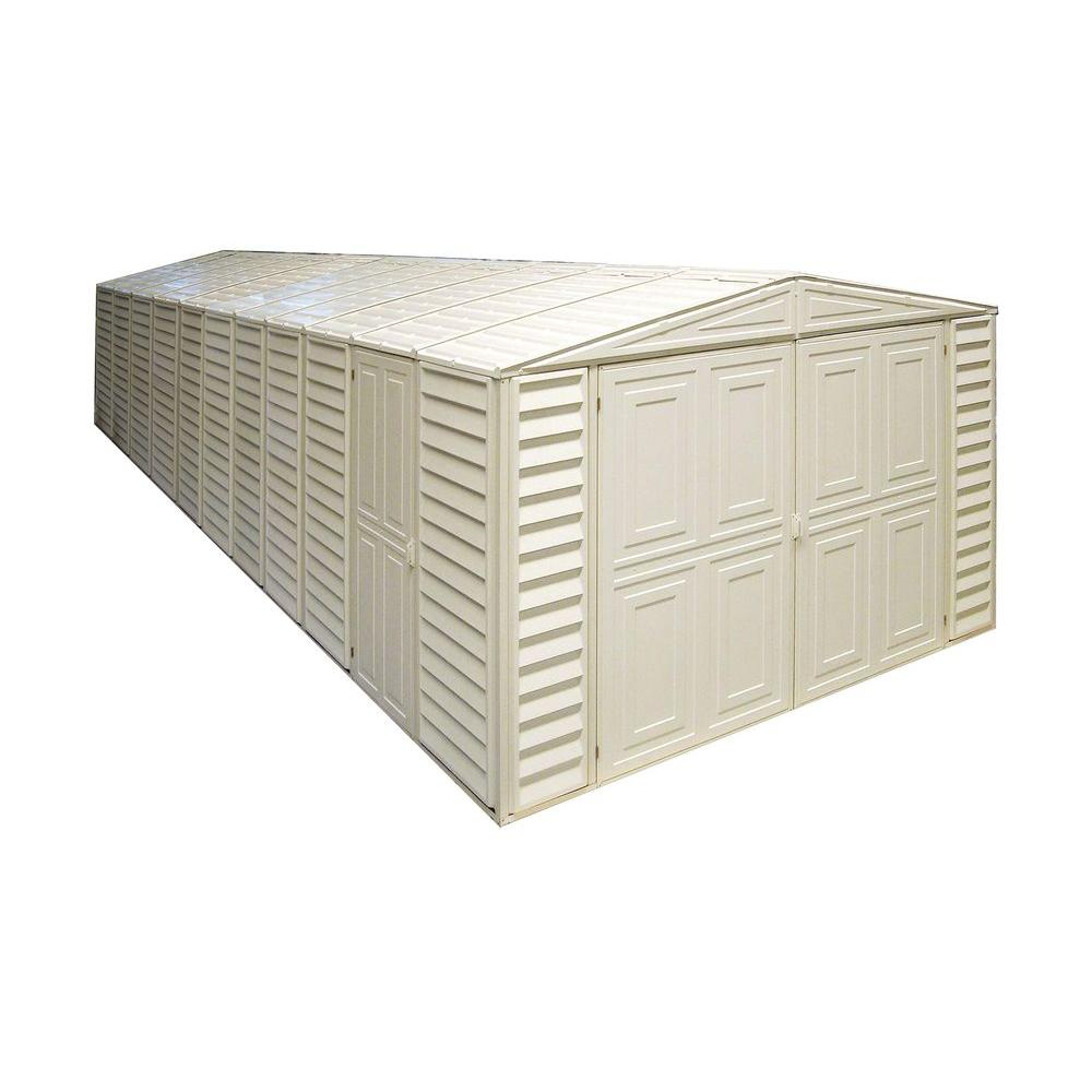Duramax Building Products 10 ft. x 23.5 ft. Vinyl Garage with Foundation and Window