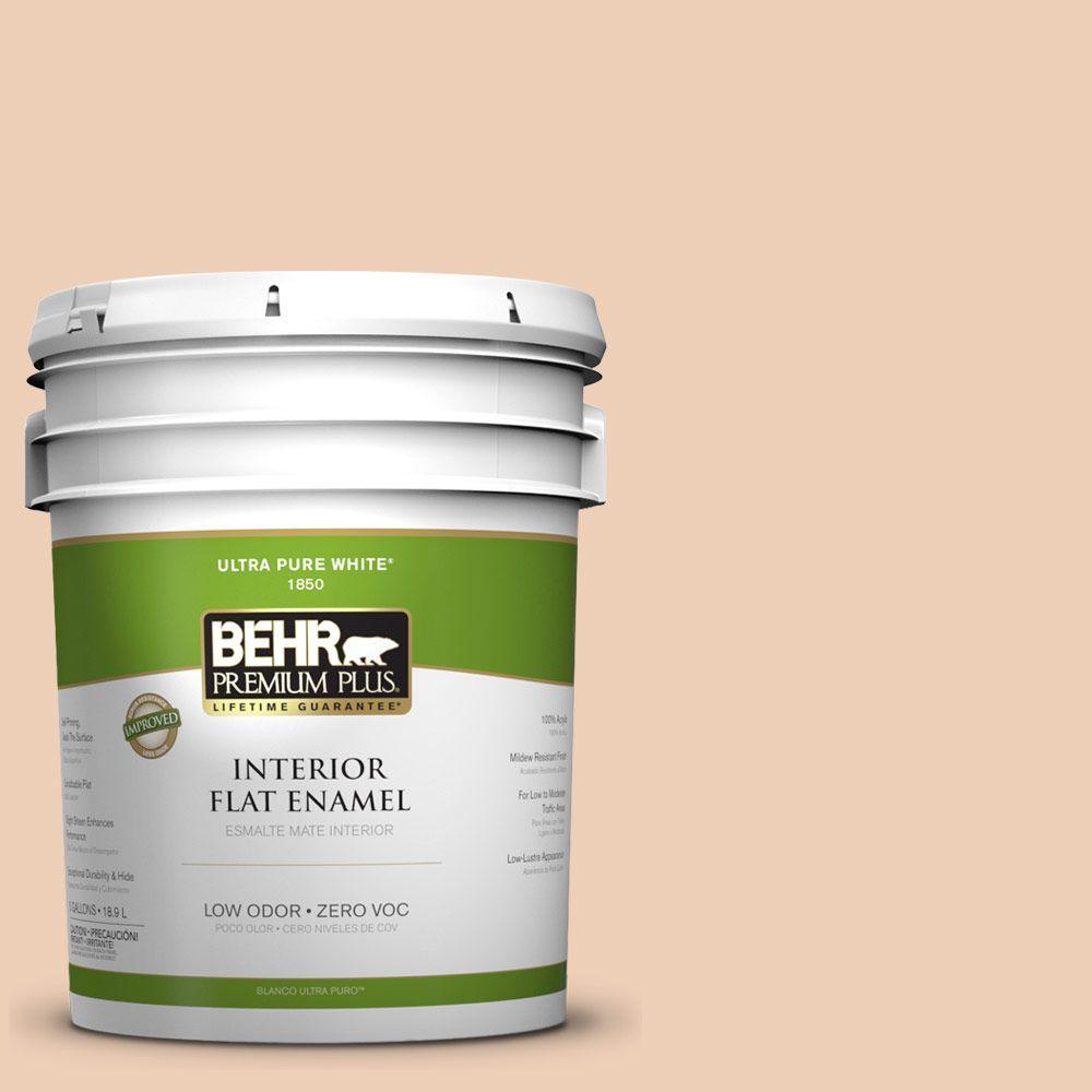 BEHR Premium Plus 5-gal. #260E-2 Clamshell Zero VOC Flat Enamel Interior Paint-DISCONTINUED