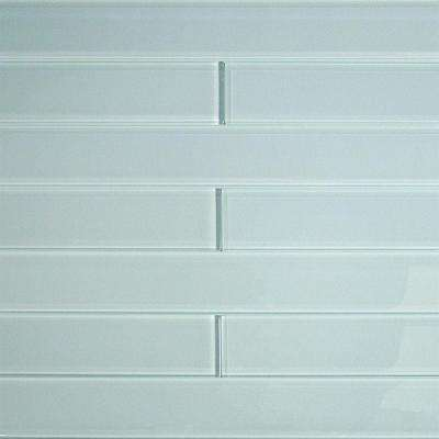 Contempo Vista Polished Seafoam Green Glass Subway Wall Tile - 2 in. x 8 in. Tile Sample