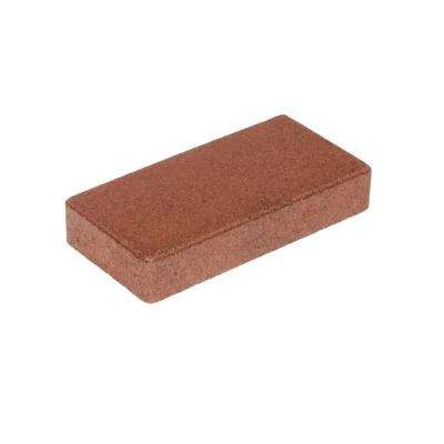 4 in. x 8 in. Redwood Composite Standard Soldier Course Full Paver