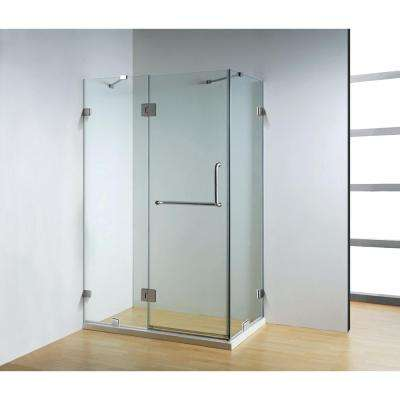 47 in. x 32 in. x 79 in. Frameless 3-Piece Corner Frameless Pivot Shower Enclosure in Clear Class with Chrome Hardware