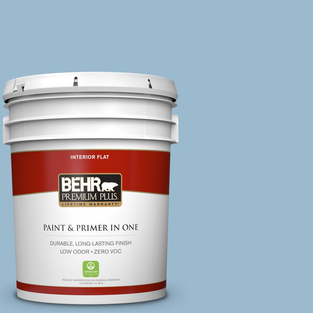 BEHR Premium Plus 5-gal. #S500-3 Partly Cloudy Flat Interior Paint