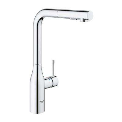 Essence New Single Hole Single-Handle Pull-Out Sprayer Kitchen Faucet with Dual Spray in StarLight Chrome