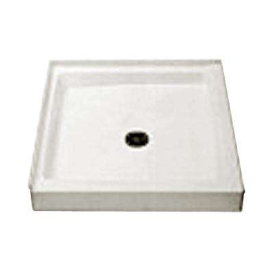 Cascade 36 in. x 36 in. Single Threshold Shower Floor in White