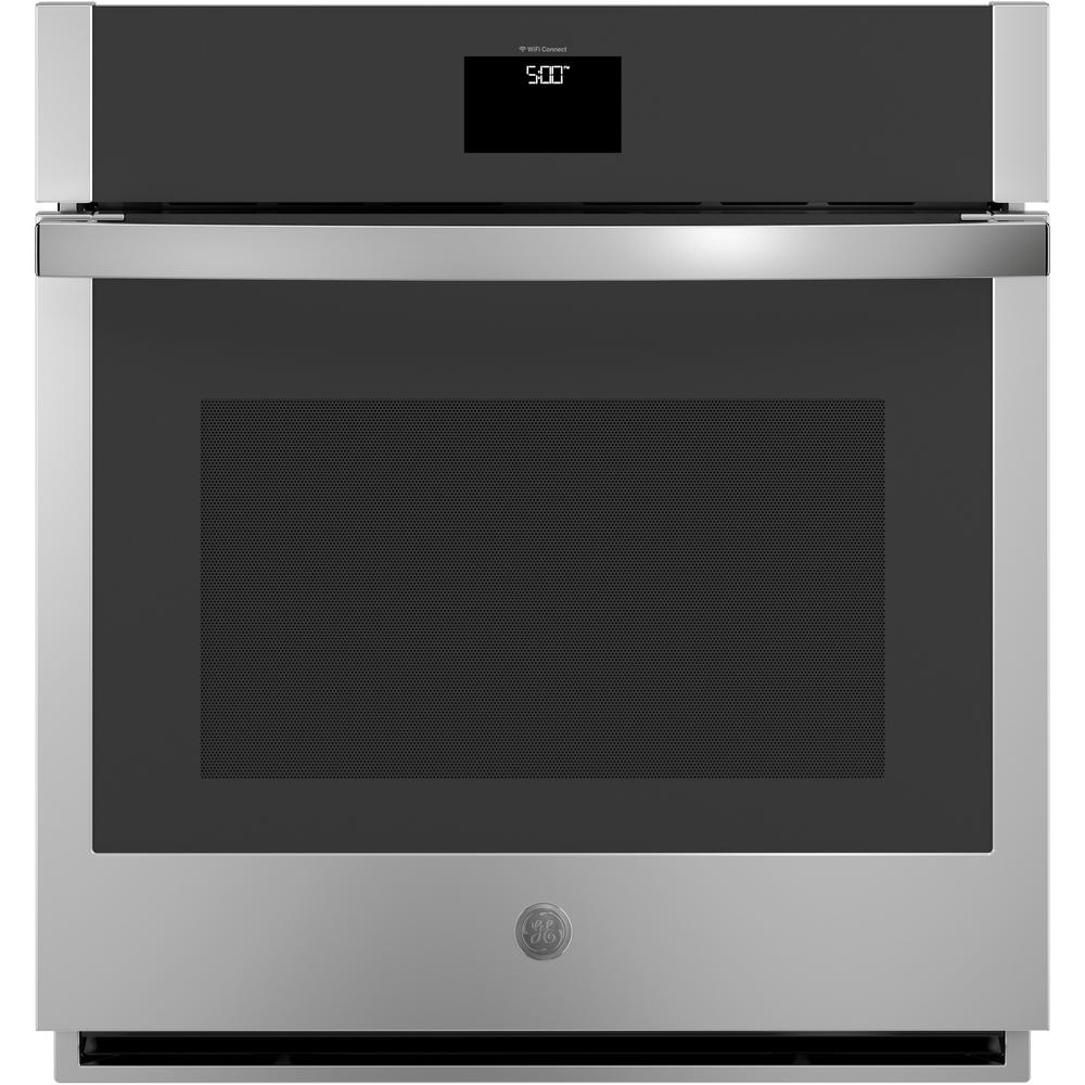 GE 27 in. Smart Single Electric Wall Oven with Convection Self-Cleaning in Stainless Steel