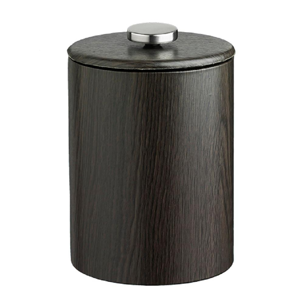 Woodcraft Tall 2 Qt. Ebony Ice Bucket with Lid
