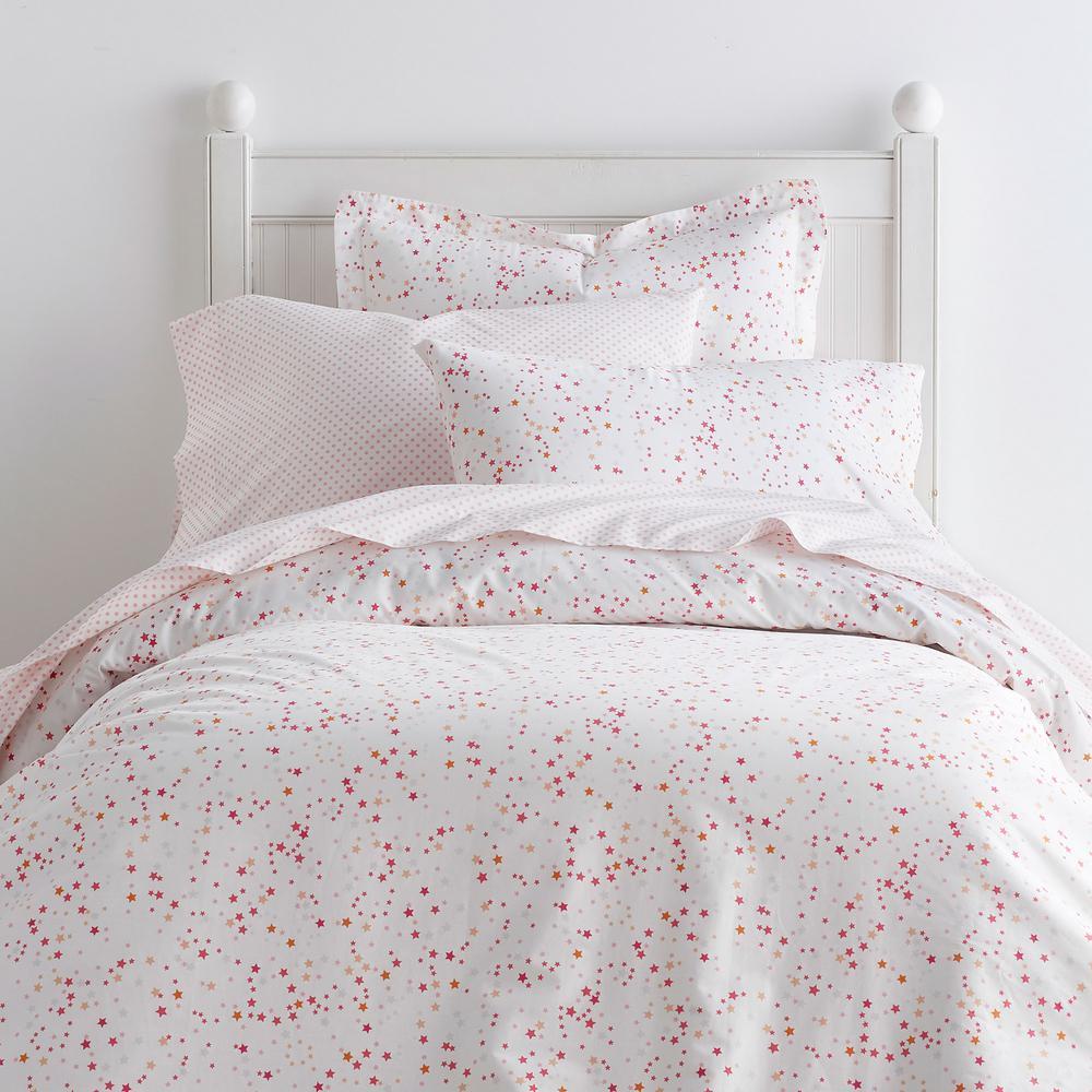 Starlight 200-Thread Count Cotton Percale Duvet Cover