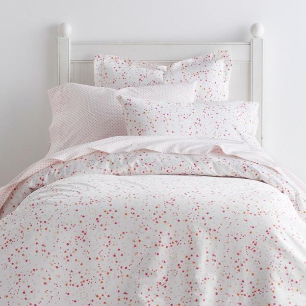 Company Kids by The Company Store Starlight Cotton Percale Hot Pink