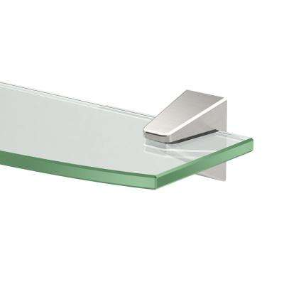 Quantra 20.13 in. W Glass Shelf in Satin Nickel