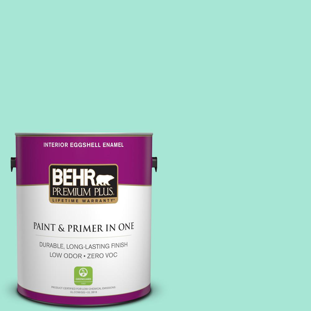 BEHR Premium Plus 1-gal. #480A-2 Botanical Tint Zero VOC Eggshell Enamel Interior Paint