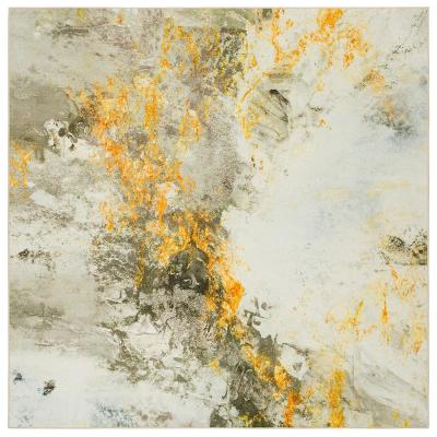 Gold Vein Gray 10 ft. x 10 ft. Abstract Square Area Rug