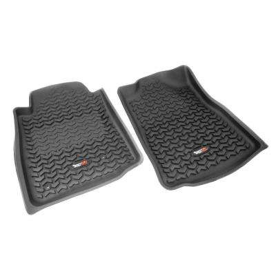 Floor Liner Front Pair Black 2005-2011 Toyota Tacoma Automatic