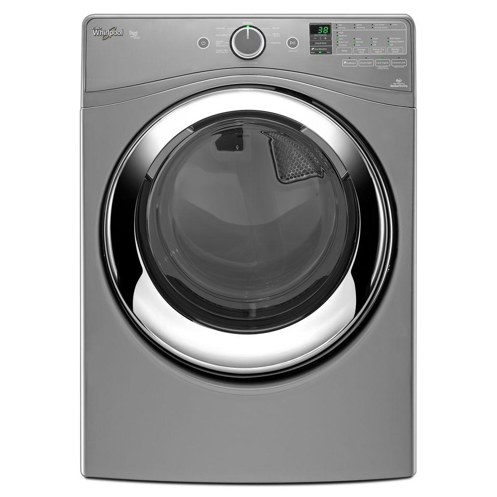 Whirlpool Duet 7.3 cu. ft. Gas Dryer with Steam in Chrome Shadow