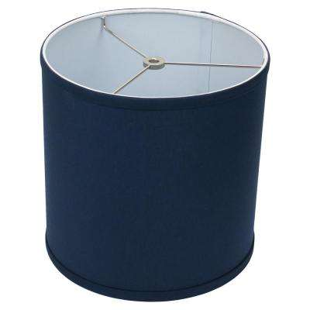 10 in. Top Diameter x 10 in. H x 10 in. Bottom Diameter Linen Navy Blue Drum Lamp Shade