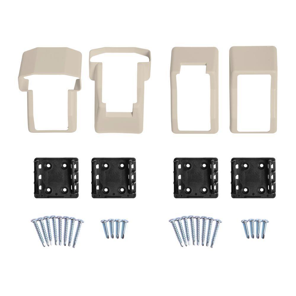 Vanderbuilt/Delray/Bellaire/Vilano Tan Stair Railing Bracket Kit (4-Piece)