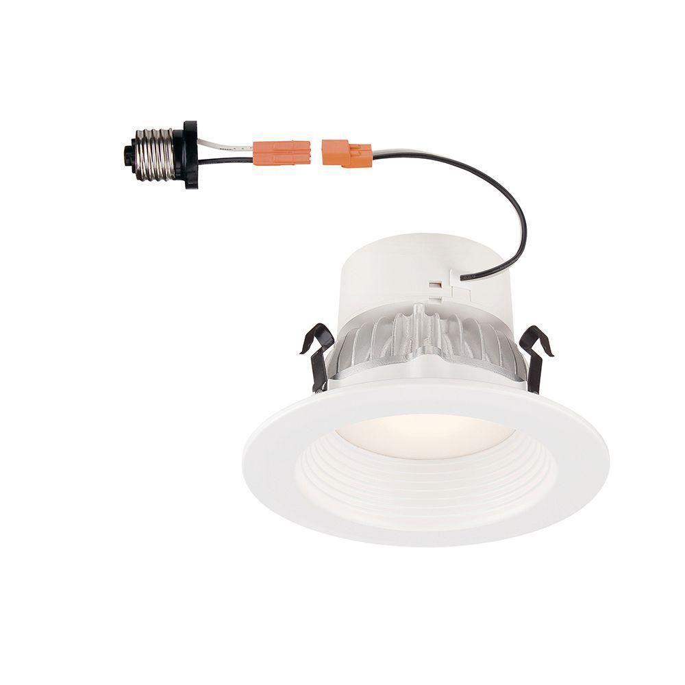 4 in. Bright White LED Recessed Deep Baffle Trim 93 CRI Ceiling Light