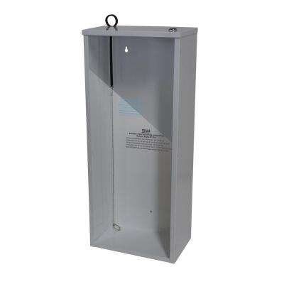 24.38 in. H x 10.33 in. W x 6.38 in. D 10 lbs. Steel Surface Mount Fire Extinguisher Cabinet in White