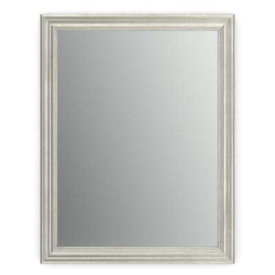 21 in. x 28 in. (S1) Rectangular Framed Mirror with Standard Glass and Easy-Cleat Flush Mount Hardware in Vintage Nickel