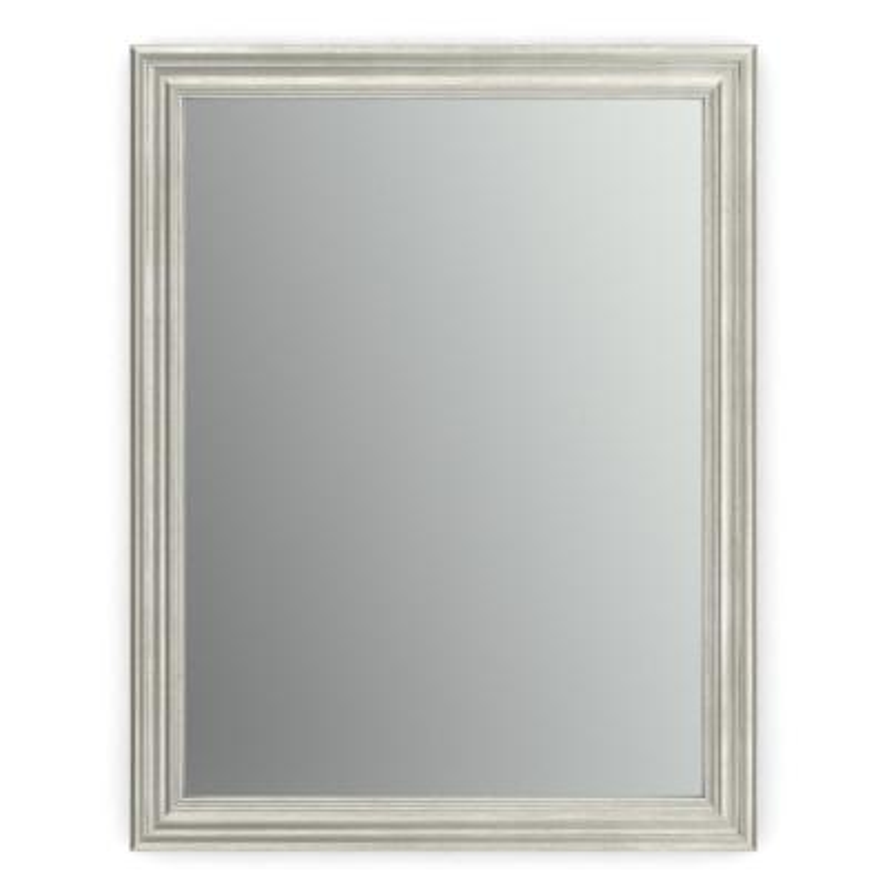 21 in. W x 28 in. H (S1) Framed Rectangular Standard Glass Bathroom Vanity Mirror in Vintage Nickel