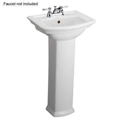 Washington 460 18 in. Pedestal Combo Bathroom Sink in White