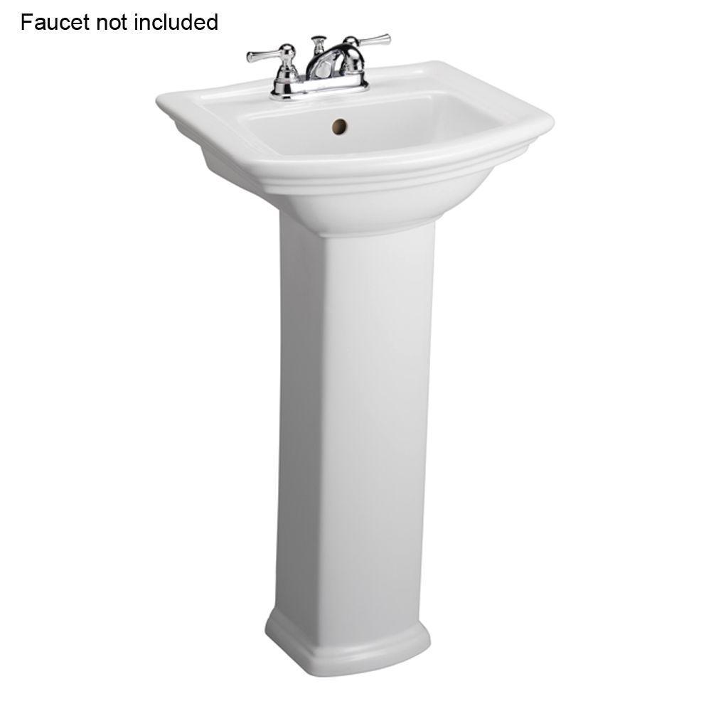 Washington 460 18 in. Pedestal Combo Bathroom Sink in White