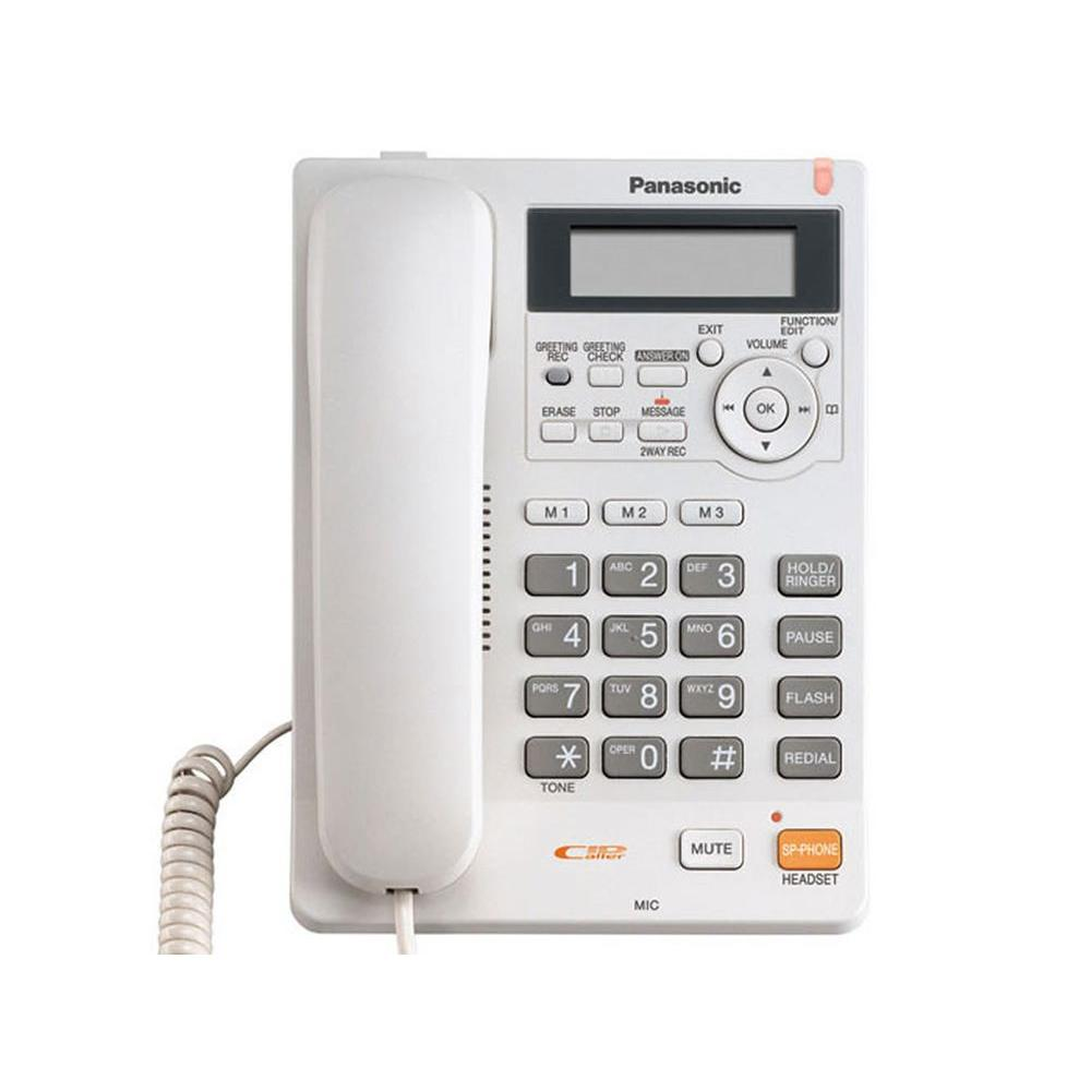 Panasonic Corded Speakerphone with Caller ID - White