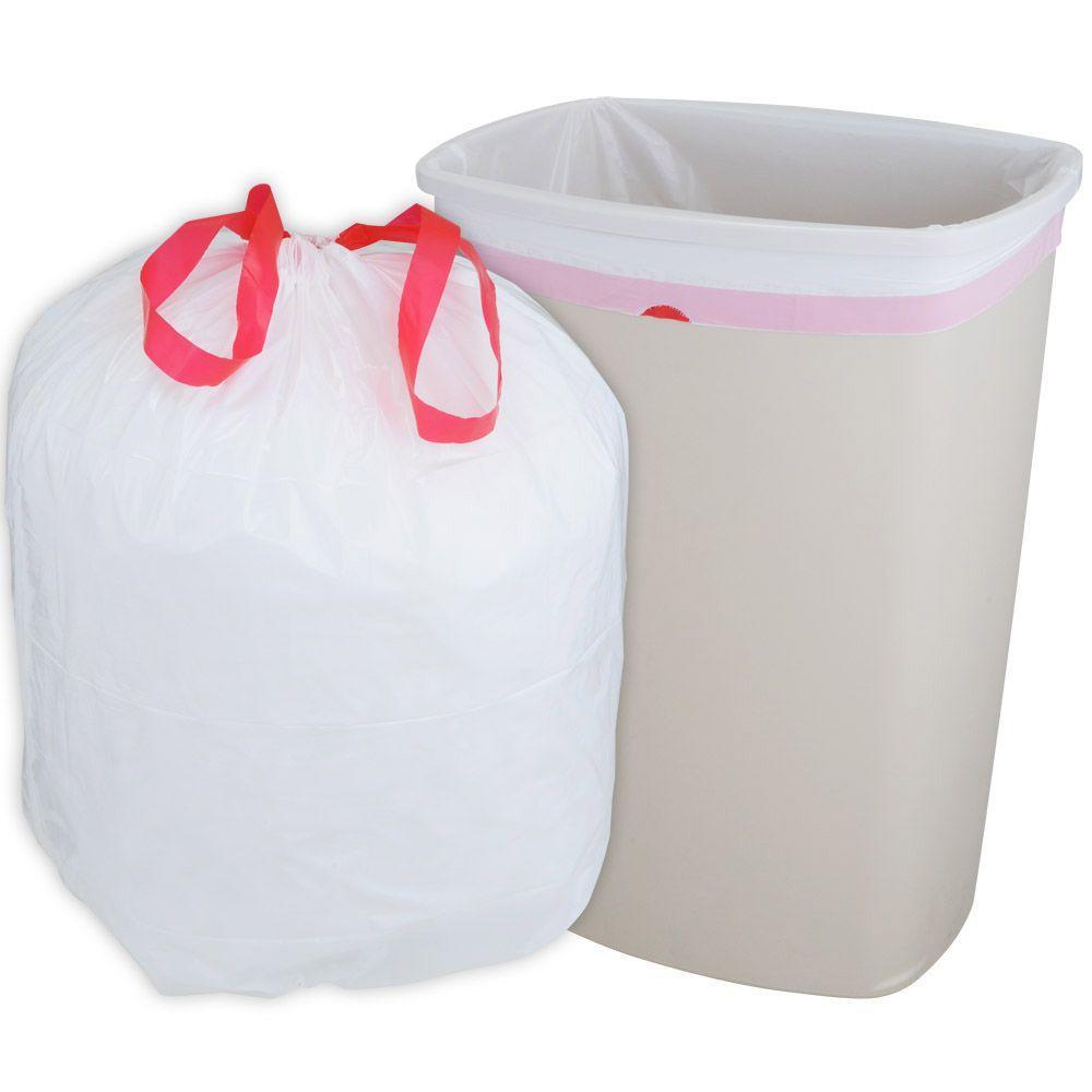 husky 13 gal drawstring kitchen trash bags the home depot